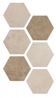 Argenta Hexagon Atlas Multicolor Warm